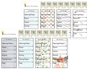 LDS Family Home Evening Planner Sticker - Happy Planner, Erin Condren Life Planner, Calendar