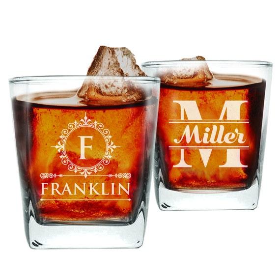 personalized whiskey glassses engraved rocks glass bourbon