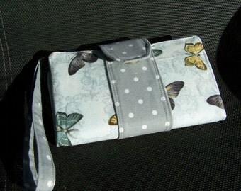 Butterfly Wristlet Wallet