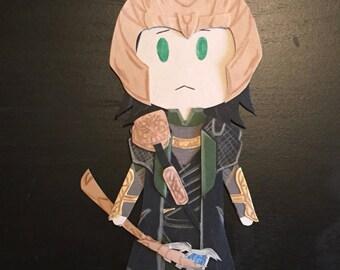 2012 Avengers Loki Paper Craft