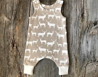 Organic Baby Harem Romper, Organic Romper, Baby Romper,  Baby Harem Romper, Boy Romper, Girl Romper