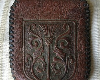 Amity Tooled Goat Leather early 1900's Wallet
