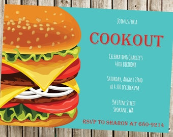 Birthday BBQ, Cookout, Summer Party, Summer Birthday, BBQ Party