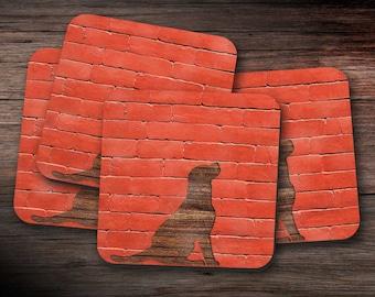 Labrador Coasters - set of four,  drink mats, coaster set, housewarming gift, new home present