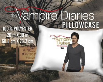 The Vampire Diaries Damon Salvatore Ian Somerhalder Pillowcase