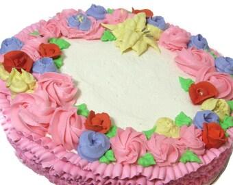 Free Shipping Rum Cake - Royal icing, Black Cake, Fruit Cake, Edible SweetTreat