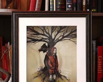 """Red Riding Hood"" art print by Valérie Lenoir"