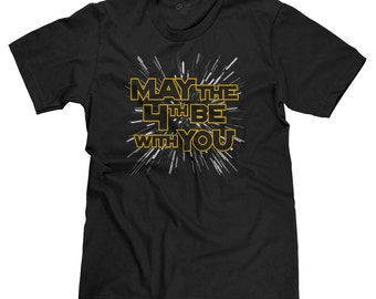 May the 4th Be With You Star Wars Day Jedi Dark Side Darth Vader Funny Parody T-shirt Tee