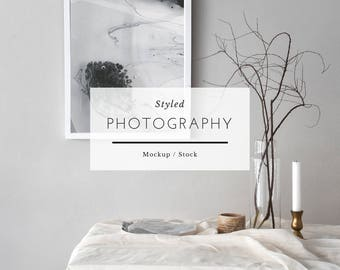 Styled Mockup Photography - Gray Delicate Styling, Stock Frame, Stock Image, Stock Prints