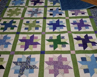 Spring time full size quilt