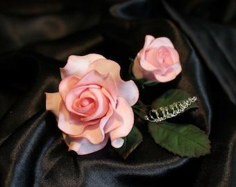 Sugarpaste roses, realistic flower cake topper for weddings, birthdays, anniversaries