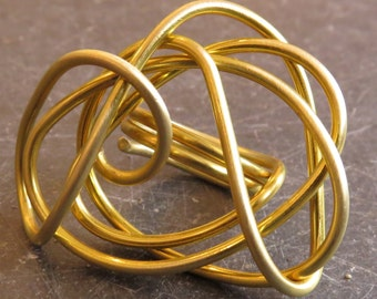 Wrapped brass wire ring
