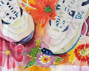 Flowers and Sneakers