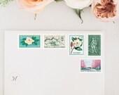 Custom Postage, Calligraphed Envelope