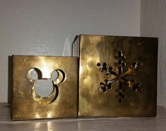 Disney brass candle holders