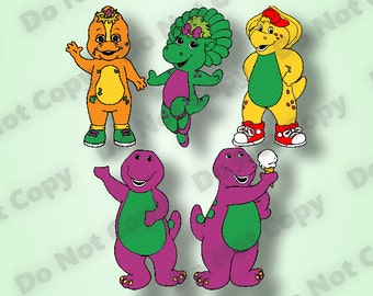 Barney and Friends SVG 5-Pack!!! Ready to Cut files svg dxf eps pdf png (300 dpi) for Cricut and Silhouette Cameo Machines-Instant Download!
