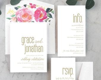 Clean + Modern Wedding Invitations