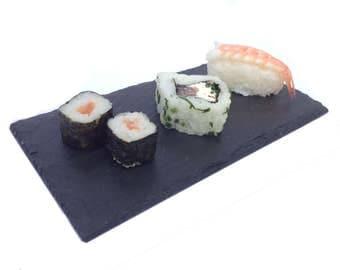 Handmade Natural Slate Platters 20cm x 10cm Cheeseboard Starter Sushi BBQ Serving Plate