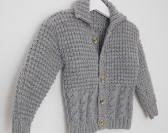 Baby boys knitted cardigan, baby handknitted cardigan, boys knitted cardigan, baby sweater