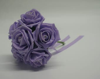 Wedding Posy - Perfect for Bridesmaids ( Ice Lilac )