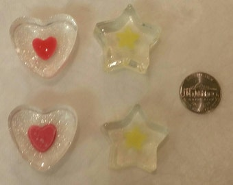 Small hearts and stars