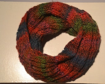 Knit Scarf, Winter Knitted Scarves, Womens Scarves, Neck Warmer