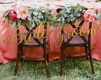 Wedding Chair Sign - Chiavari Chair Decor - Wedding Chair Signs Decoration - Chair Signs for Wedding - Bride/Groom