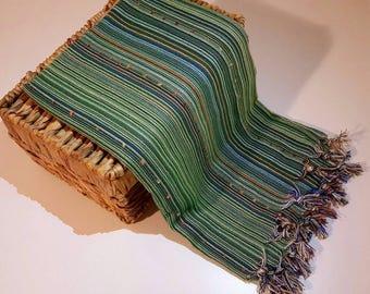 Turkish BATH Towel Peshtemal green -  natural / organic cotton / %100 cotton Beach, Spa, Swim, Pool Towels and Pareo