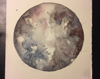 Full Moon Original Watercolors