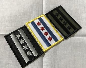 "Mini Chicago Flag Patch 2.75"" x 2.25"""