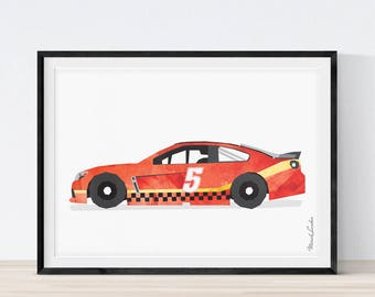 racing car printable race car print transportation wall art boys room decor