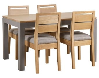 Norwegian style Oak Dining Table & 4 Chairs with FREE delivery