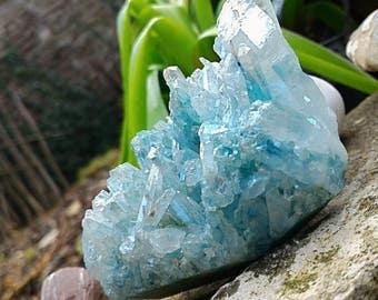 Super Aqua Aura, rare quartz. Stone Channeling and protection