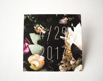 Geometric Florals Wedding Save The Date | Glamorous, Bold, & Modern | Square