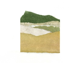 Abstract Mountain Landscape | Fine Art Print | Archival Giclee Print | Wall Decor | Collage 26