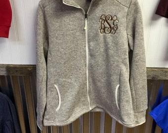 Monogrammed Heathered Jacket