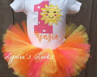 You are my sunshine tutu birthday outfit