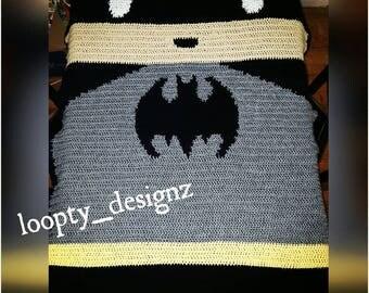 Batman Lego blanket, crochet batman blanket, crochet blanket, batman lego