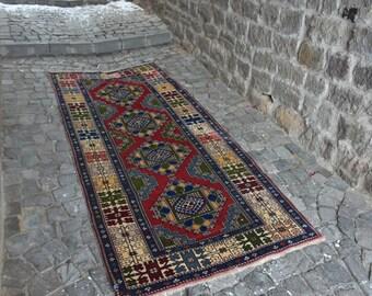 Free Shipping! 3.9 ft x 9.3 ft Turkish Rug Vintage Turkish Rug Handmade Turkish Rug Decorative Rug Floor Rug Turkish Area Rug