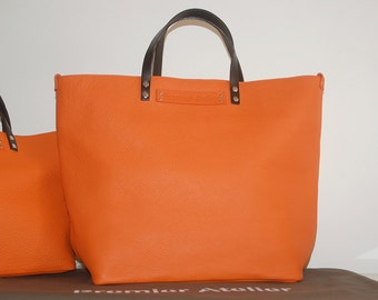 'WE' in calf-Taurillon Orange bag