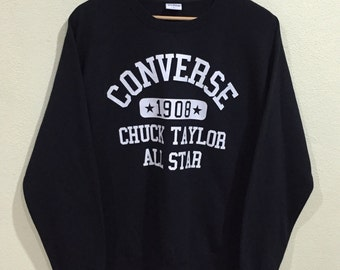 Rare!!! Vintage Converse Sweatshirt Converse USA All Star Pullover Jumper Sweater Hip Hop Swag Skate lo life - Excellent