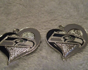 Set of 2 Seatle Seahawks Charms.