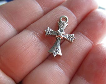 Set of 10 Cross Charms