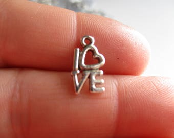 Set of 10 Love Charms