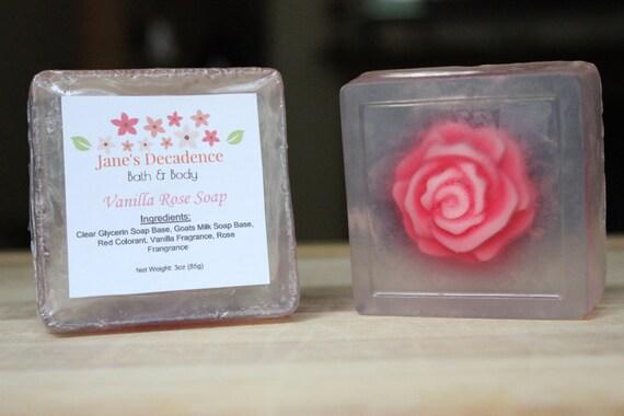 Vanilla Rose Soap   Jane's Decadence Bath & Body