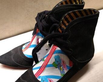 Low boot black UK