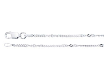 Sterling Silver 1.4mm Twist Curb Chain