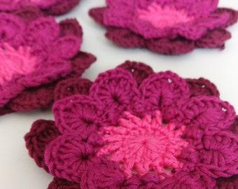 Handmade Dahlia Flower 5pc - pink edition