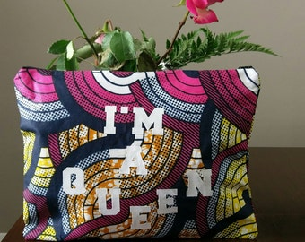 African Print Statement Clutch Purse