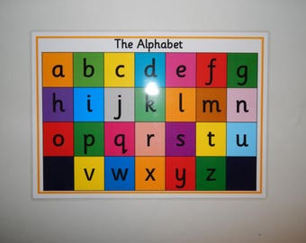 Alphabet Poster - A4 Laminated Poster, letters, alphabet, Phonics,  cursive, EYFS, SEN, KS1 Early Learning, Teaching Resource